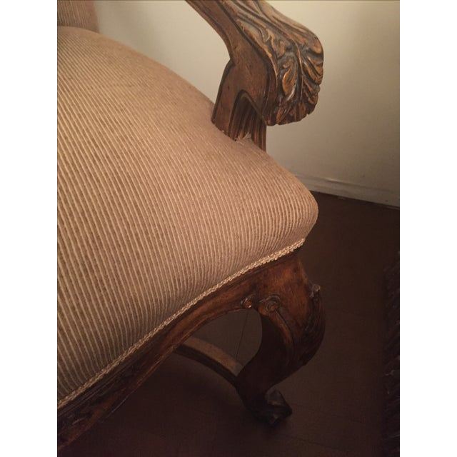 Louis XVI Style Walnut Fauteuil - Image 3 of 4
