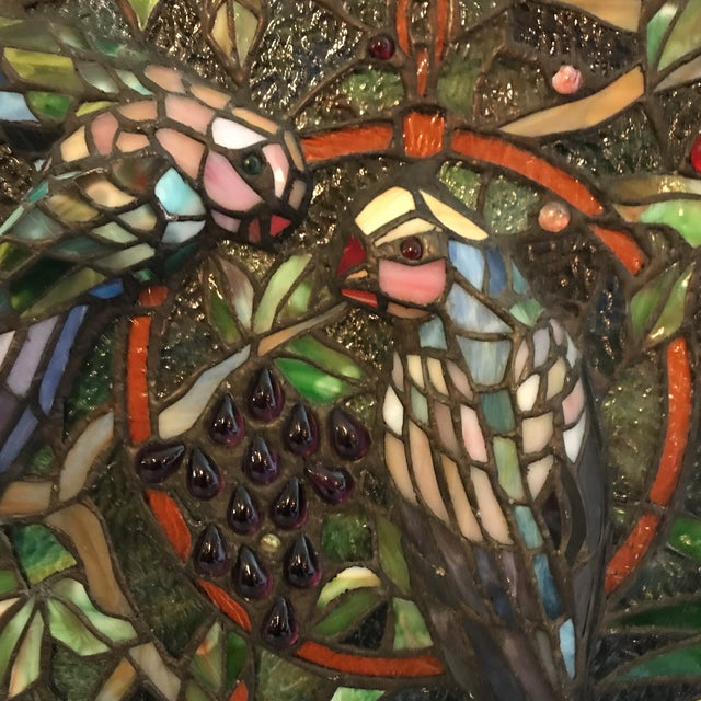 Tiffany Style Stained Glass Plaque - Image 3 of 7
