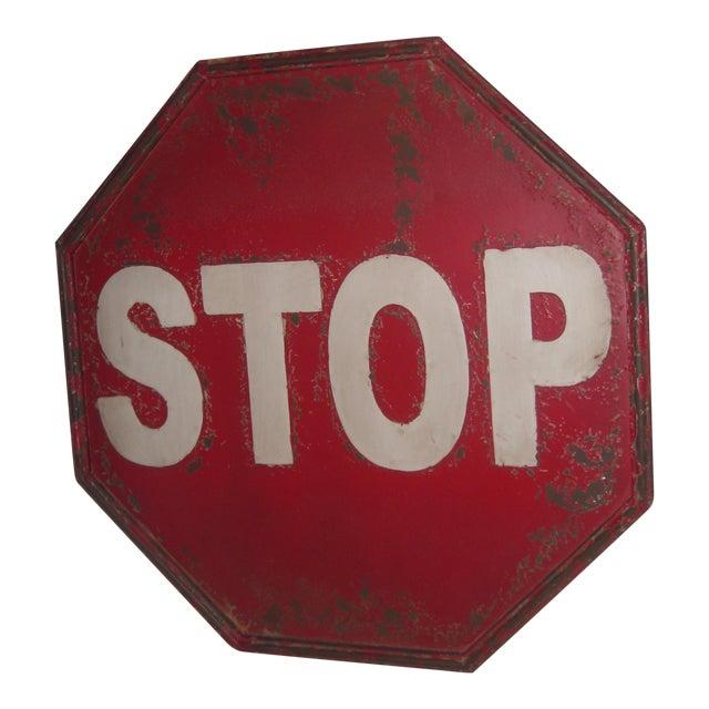 "Tin Retro ""STOP"" Sign - Image 1 of 5"