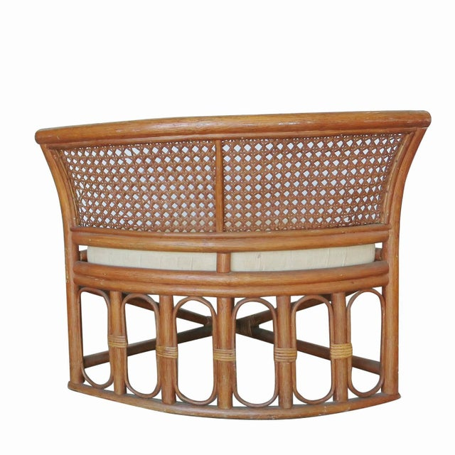 Rattan & Wicker Dining Table & Four Hidden Chairs - Image 10 of 10
