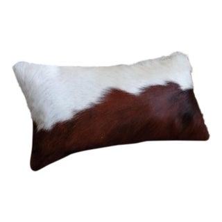 Brown & White Cowhide Lumbar Pillow