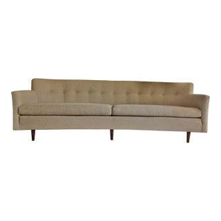 Edward Wormley Dunbar Style Mid-Century Dansh Modern Teak Bracket Back Sofa