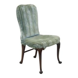 Mahogany Wood Queen Anne Style Upholstered Dining Side Desk Chair A