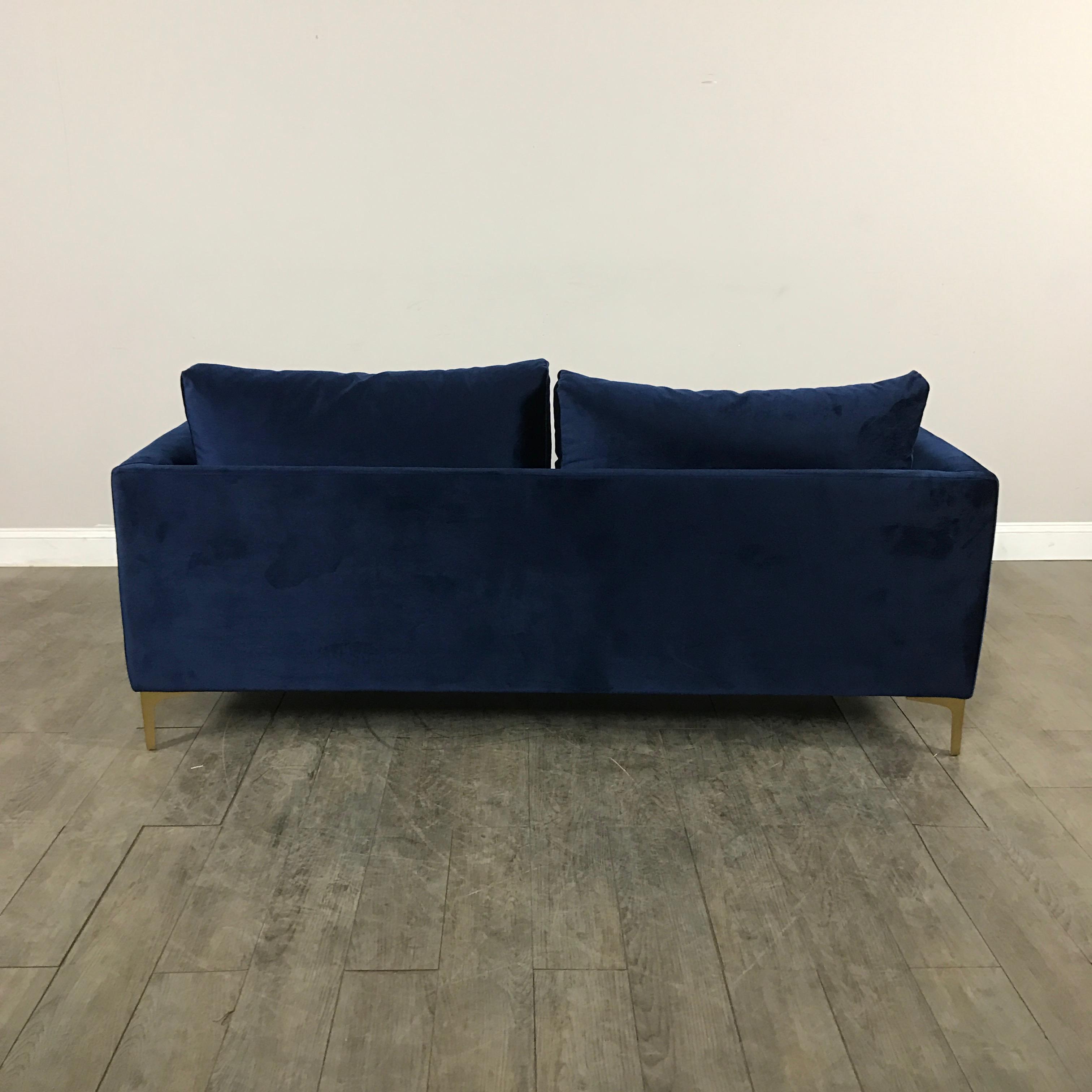 Modern Royal Velvet Navy Blue Sofa