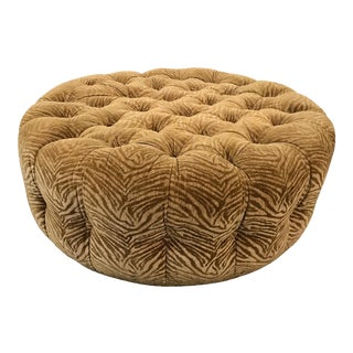 Spinning Gold Ottoman