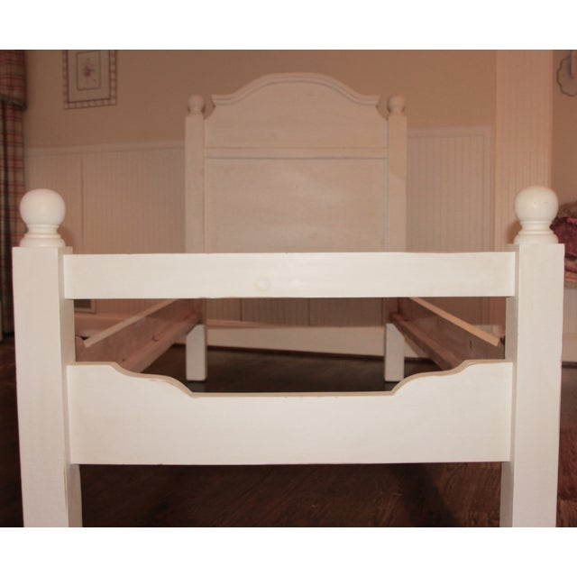 White french farmhouse twin beds a pair chairish for French farmhouse bed
