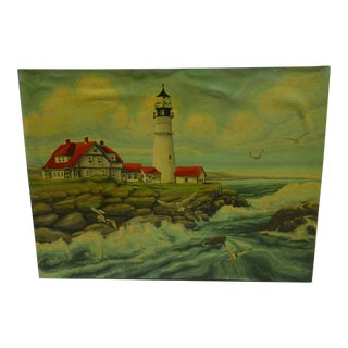 """""""The Lighthouse"""" Original Painting on Board"""