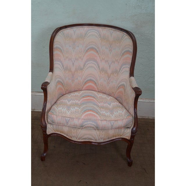 Image of Large 1920s French Louis XV Style Bergere Chair