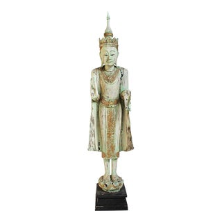 Vintage Thai Wood Buddha