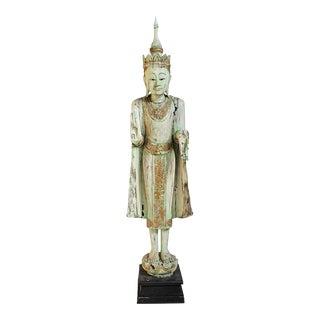 Vintage Thai Wood Buddha