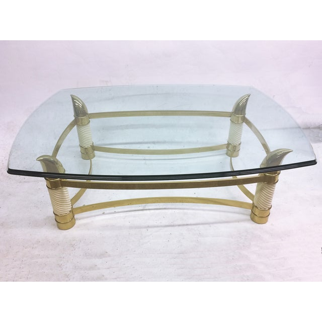Hollywood Regency Coffee Table by Weiman - Image 3 of 7