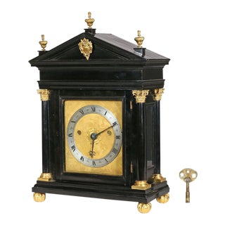 Edward East (1602-1697): Charles II Ebony Table Clock
