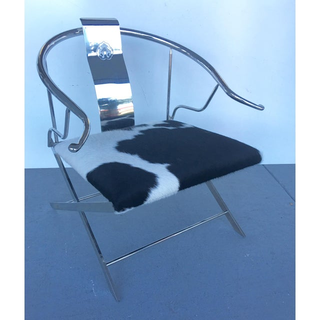 Stainless Steel Modernist Lounge Chair - Image 3 of 7