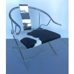 Image of Stainless Steel Modernist Lounge Chair