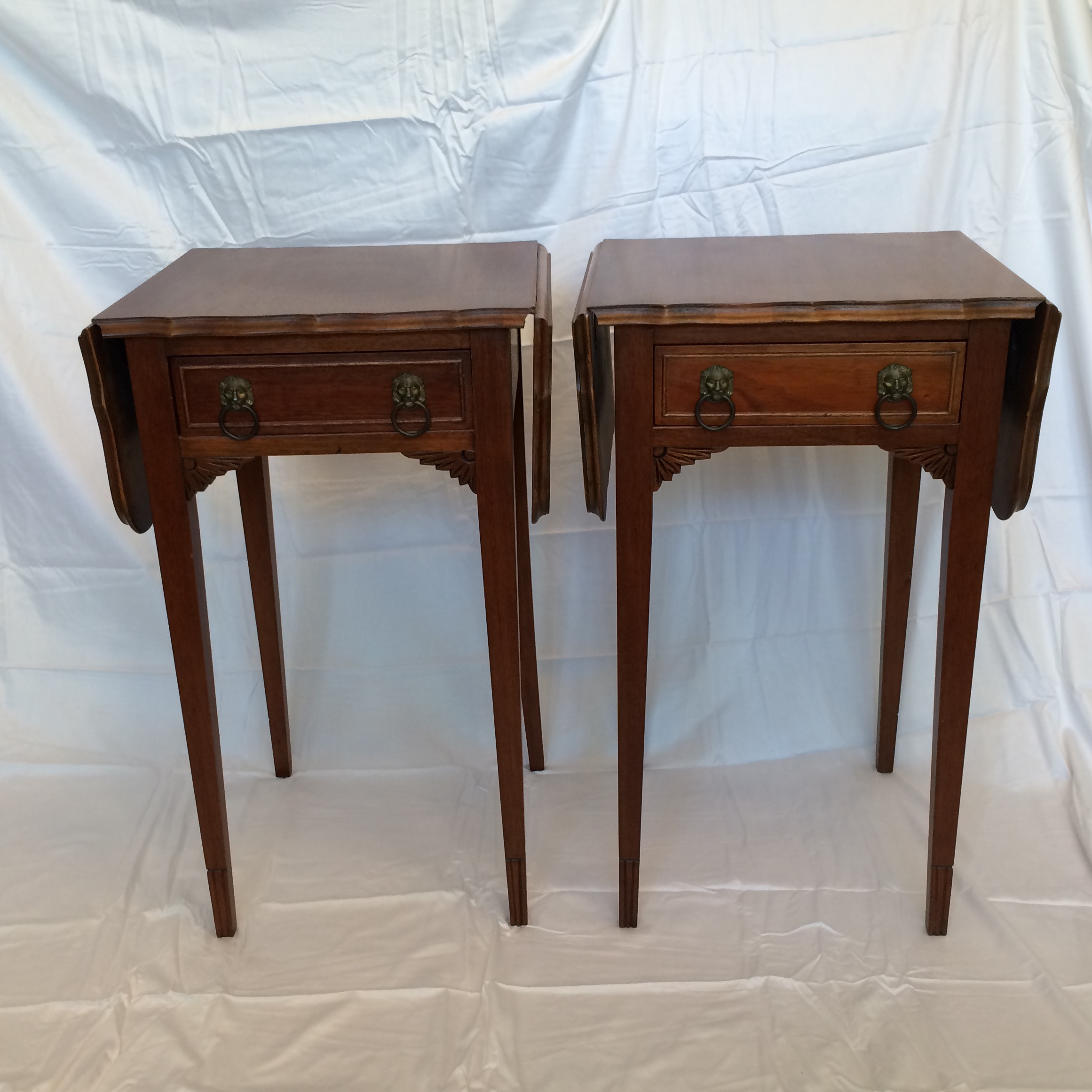Vintage Drop Leaf Side Tables   A Pair   Image 2 Of 9