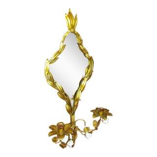 Vintage Italian Tole Mirror Sconce