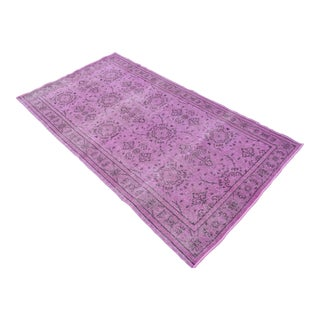 "Turkish Pink Overdyed Hand Knotted Rug - 3'9"" X 6'9"""