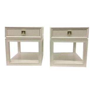 Somerset Bay Malibu Loft White & Brass Side Tables - A Pair
