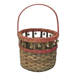 Jingle Bells Basket with Handle