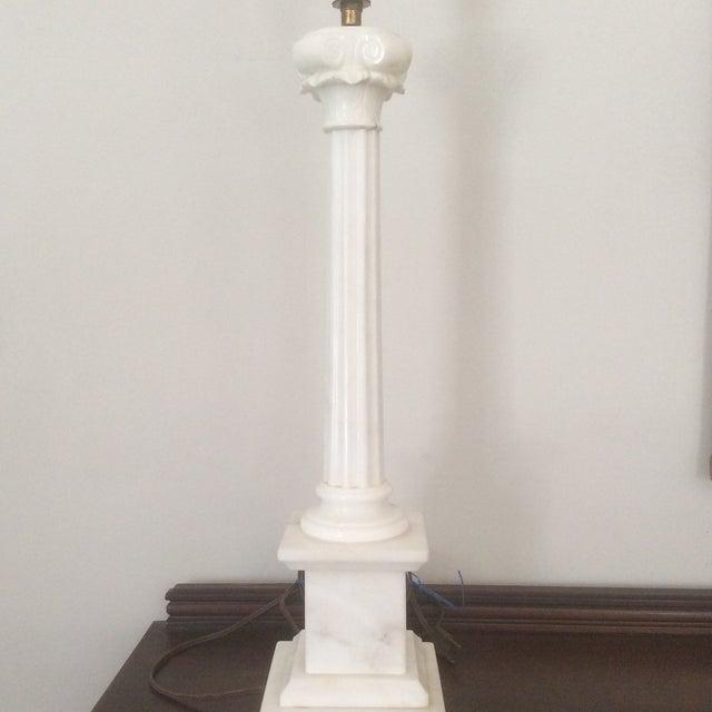 Alabaster Column Lamp - Image 4 of 9