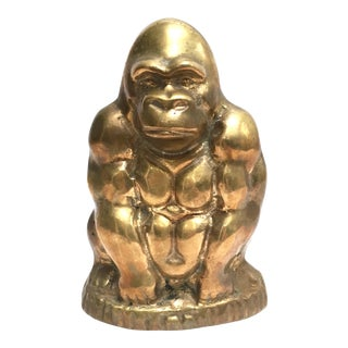 Vintage Brass Gorilla