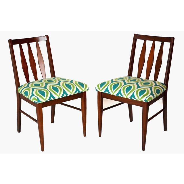 Image of Mid-Century Teak Side Chairs- A Pair