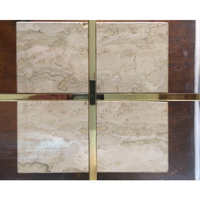 Mid-Century Travertine Side Tables - A Pair - Image 4 of 10