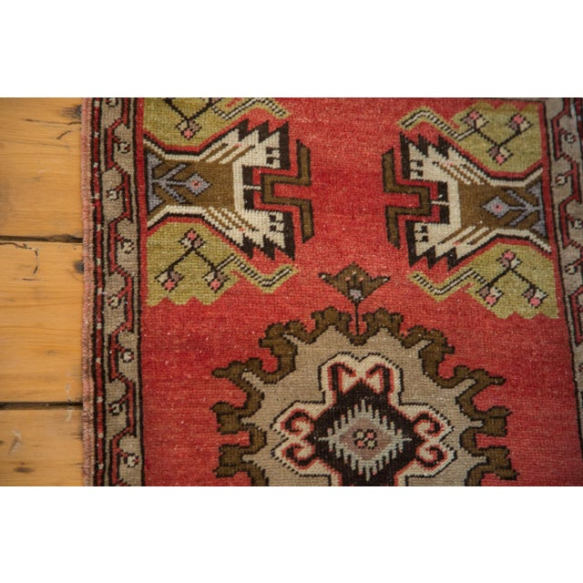 "Vintage Oushak Red Rug Mat - 1'7"" X 2'8"" - Image 7 of 7"