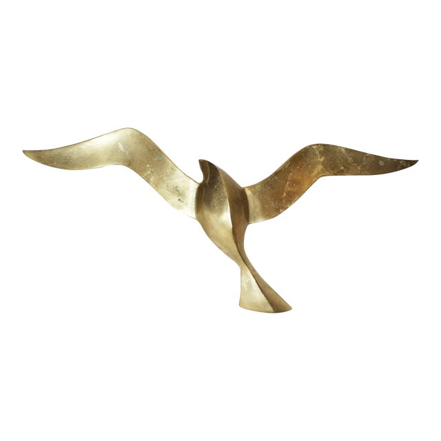 Brass Wall Seagull - Image 1 of 4
