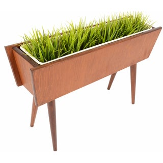 Danish Modern Atomic-Style Teak Planter