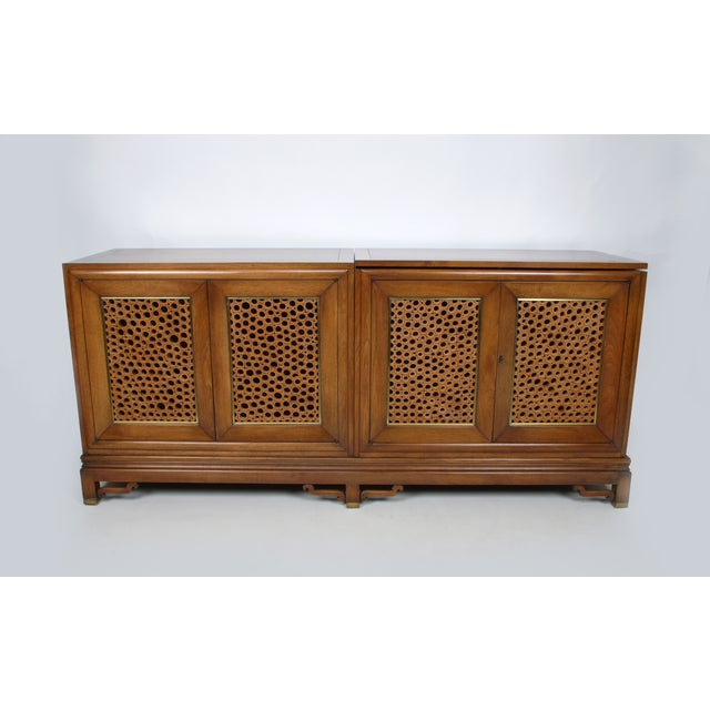 Signed Pierre Bartet Walnut Bar Cabinet - Image 2 of 11