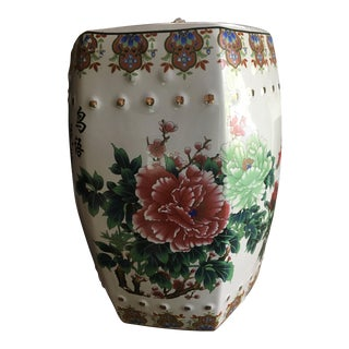 Asian Floral Porcelain Garden Stool