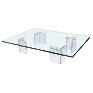 Leon Frost Lucite Cocktail Table