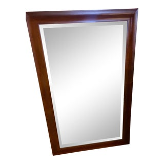 Walnut Wood Framed Wall Mirror