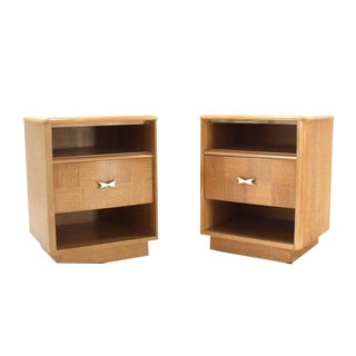 Pair of Cerused Oak Nightstands