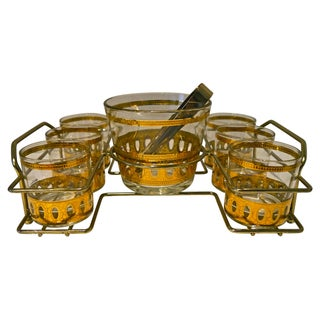 1960s Gilded Culver Bar Set