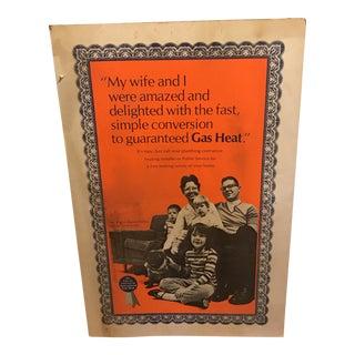 1950s Cardboard Sign