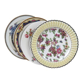 Mismatched Vintage Salad Plates - Set of 4