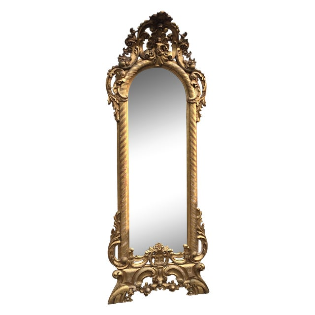 Image of Italian Gilt Pier Mirror