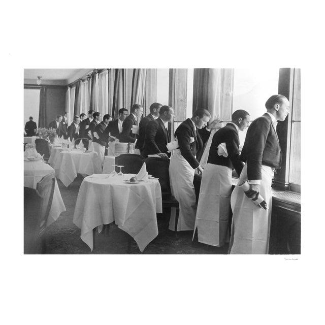 "Alfred Eisenstaedt ""Waiters Watching Sonya Henie Skate"" Photograph - Image 3 of 3"