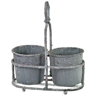 Vintage-Inspired Zinc Planter Pots