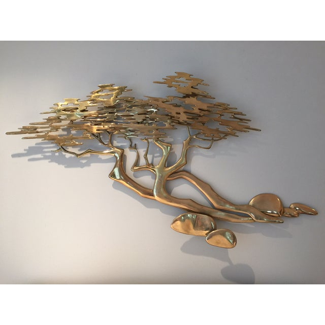 Mid-Century Bijan Brass Wall Sculpture - Image 2 of 6