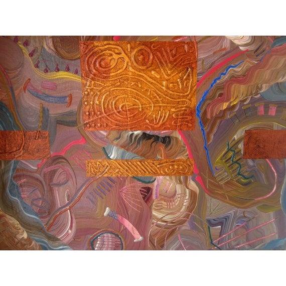 Charles Huckeba Signed Modernist Oil Painting - Image 2 of 6