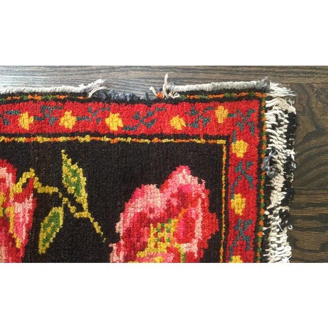 Armenian Antique Rugs: Vintage Armenian Karabagh Rug - 4′ × 8′