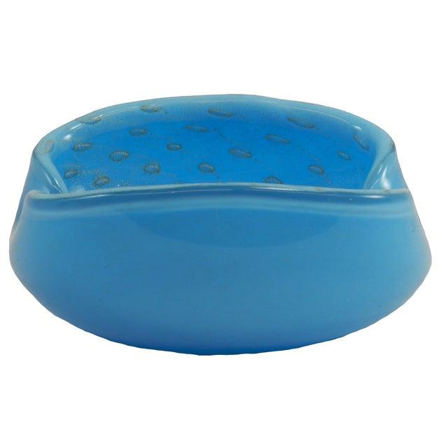 Image of Murano Barbini Blue Ashtray