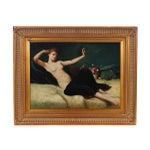 Image of Reclining Female Oil Painting by N. Bingham