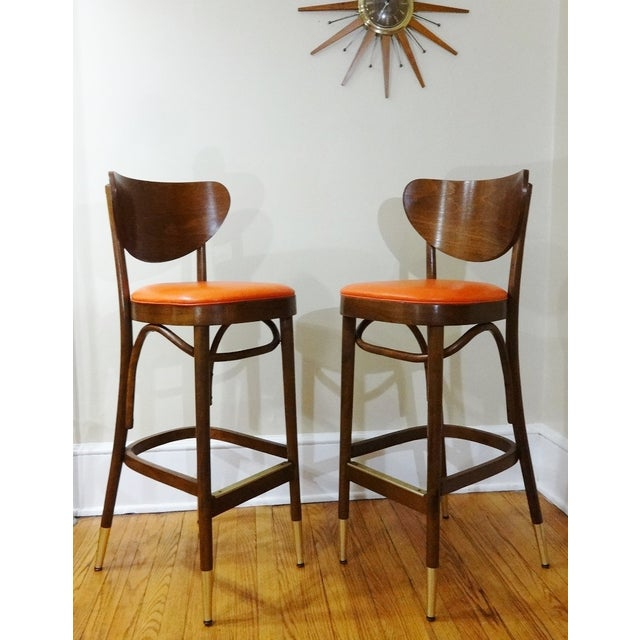Mid-Century Bentwood Bar Stools - A Pair - Image 2 of 6