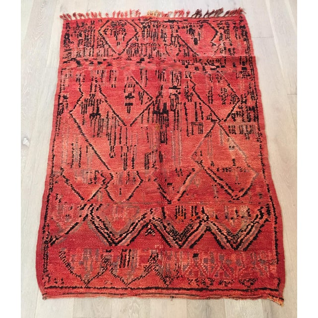 Image of Azilal Tribal Design Moroccan Rug - 4'7'' x 6'6''