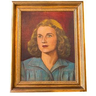 Vintage Mid-Century Portait Painting