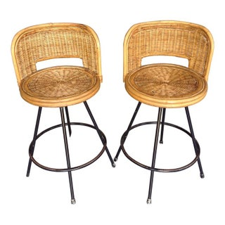 Counter Height Swivel Bar Stools - A Pair